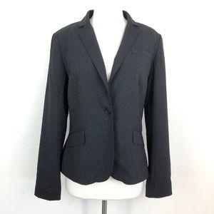 J. Crew Charcoal Gray Blazer Jacket Wool Spandex